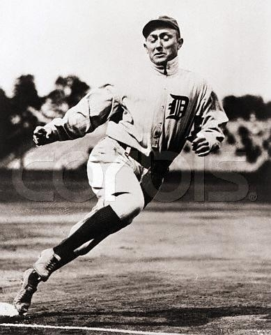 Ty Cobb Rounding Third Base